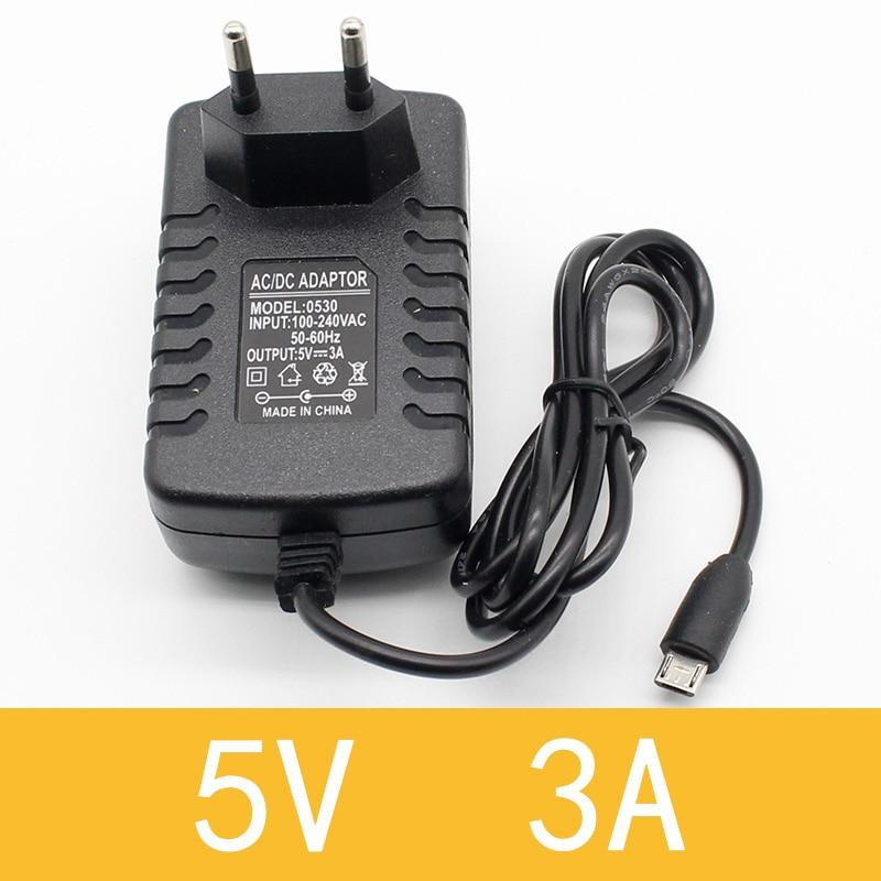 1 шт. 100-240 В AC в DC адаптер питания зарядное устройство адаптер 5 в 12 В 1A 2A 0.5A ЕС Штекер 5,5 мм x 2,5 мм/5v3aDC штекер Micro USB - Цвет: 5V3A