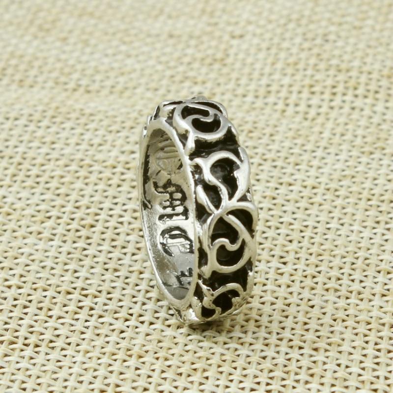 Octbyna Punk Ring Big Size Rings Retro Vintage Biker Large Antique Mens Rings for Seal Men Rock Mens Jewelry