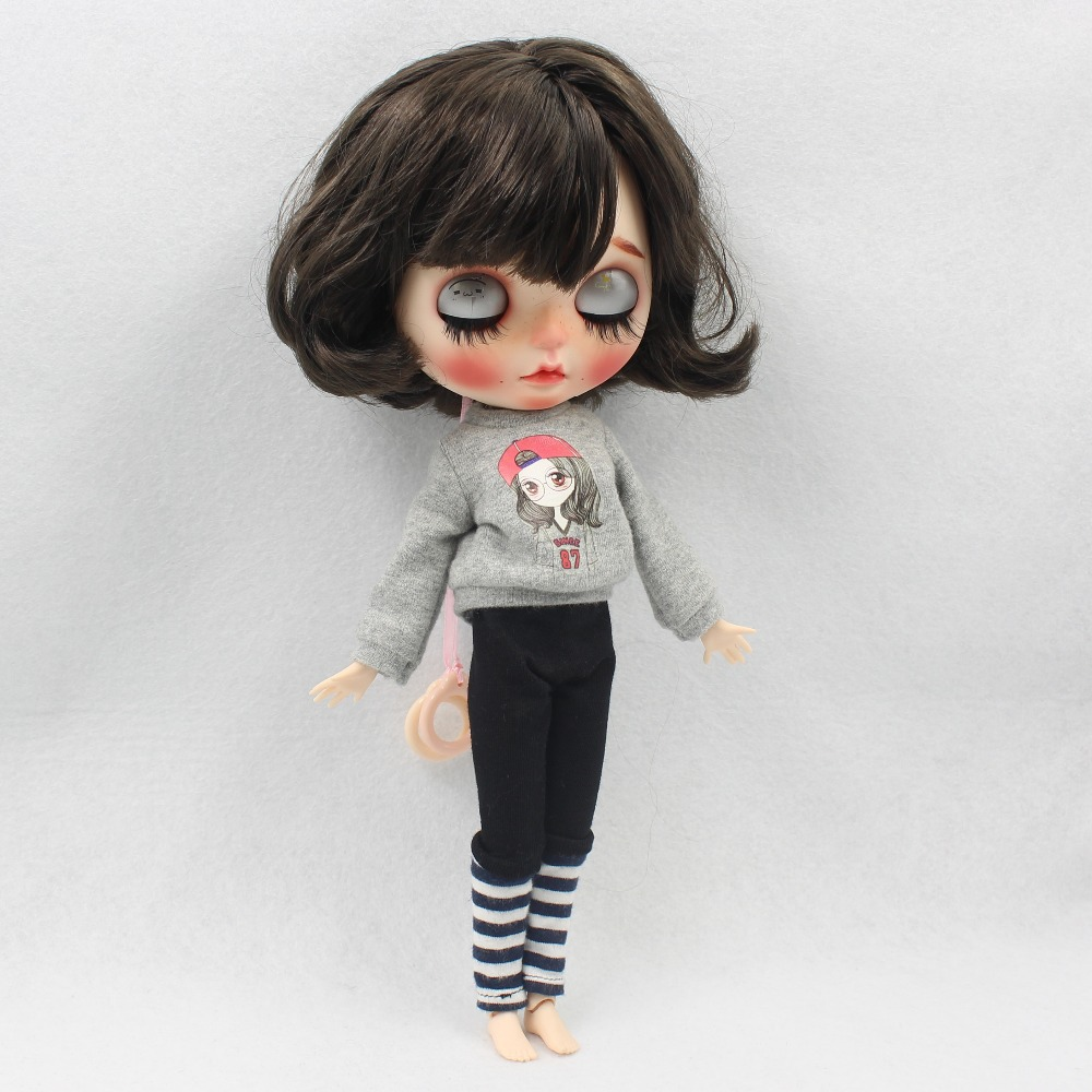 Neo Blythe Doll Winter Outfit with Hat 4