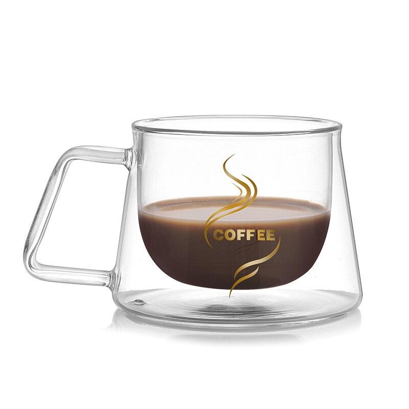 Hoomall capas dobles taza de vidrio de alta calidad de ministerio Mesa calor aislamiento leche té café Mesa taza caliente drinkware