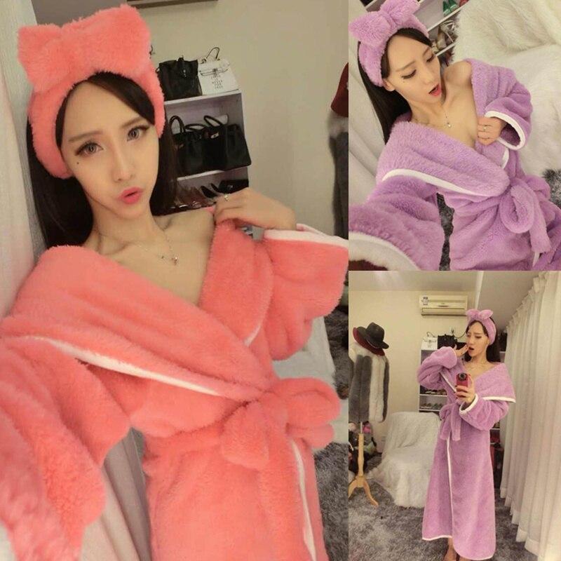 2017 super lembut jubah dpt dipakai handuk spa seksi washclothing bungkus mandi untuk wanita muda send headscarf in robes from women s