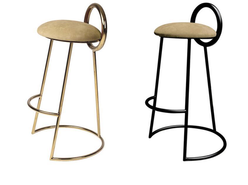 Iron Bar Bar Chair Nordic Front Desk High Table Stool Tea Shop Coffee Shop Chair Korea Bar Table Chair