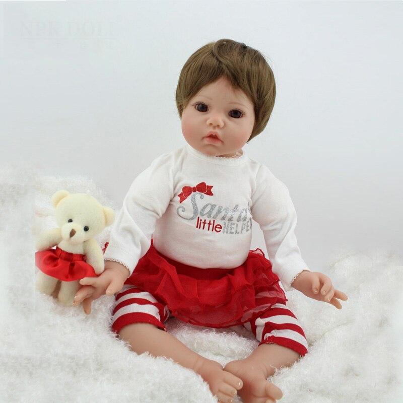 Reborn Doll Handmade Realistic 20 inch Soft Silicone Vinyl Reborn Baby Dolls Baby Born Doll Creative Baby Toy Children's Toys