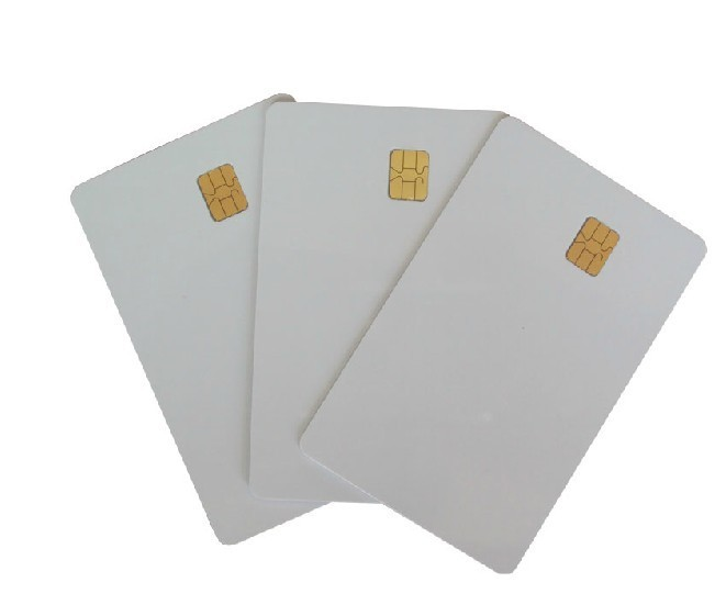 white PVC card with SLE 4442 chip contact smart card 100pcs lot printable pvc blank white card no chip for epson canon inkjet printer suitbale portrait member pos system