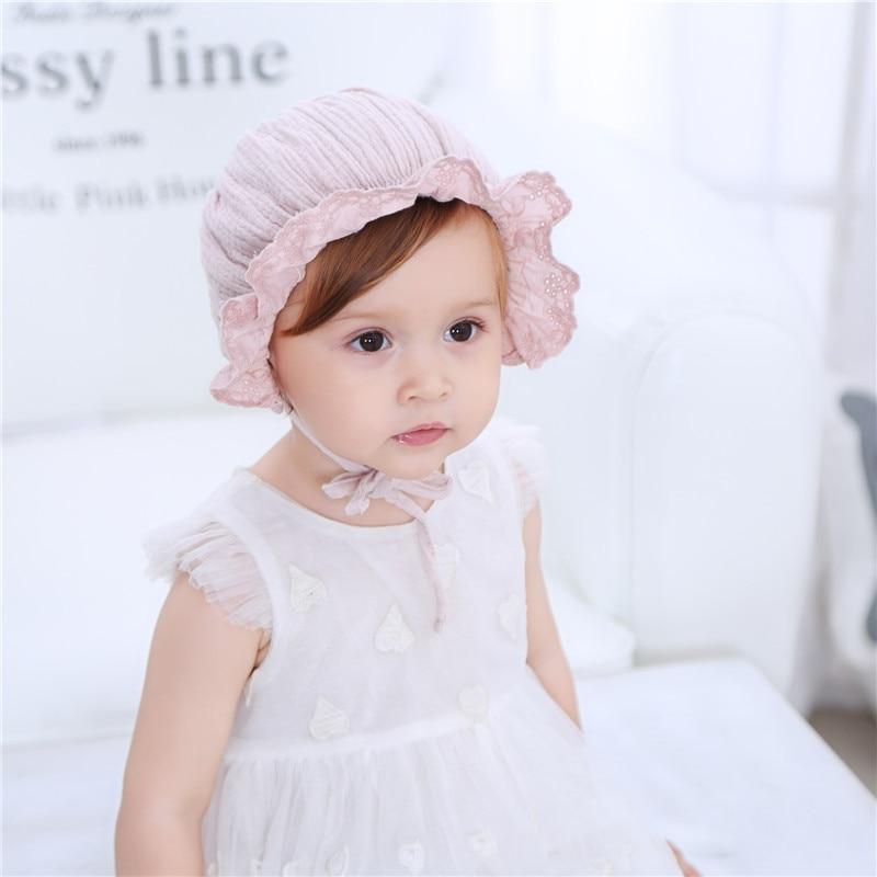 Nieuwe lente en zomer cap kinderen baby katoen prinses hoed - Babykleding - Foto 5