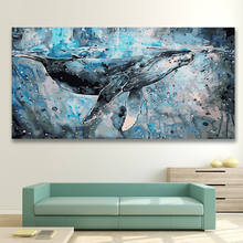 DIY colorings pictures by numbers with colors Cat blue whale impression picture drawing painting  framed Home