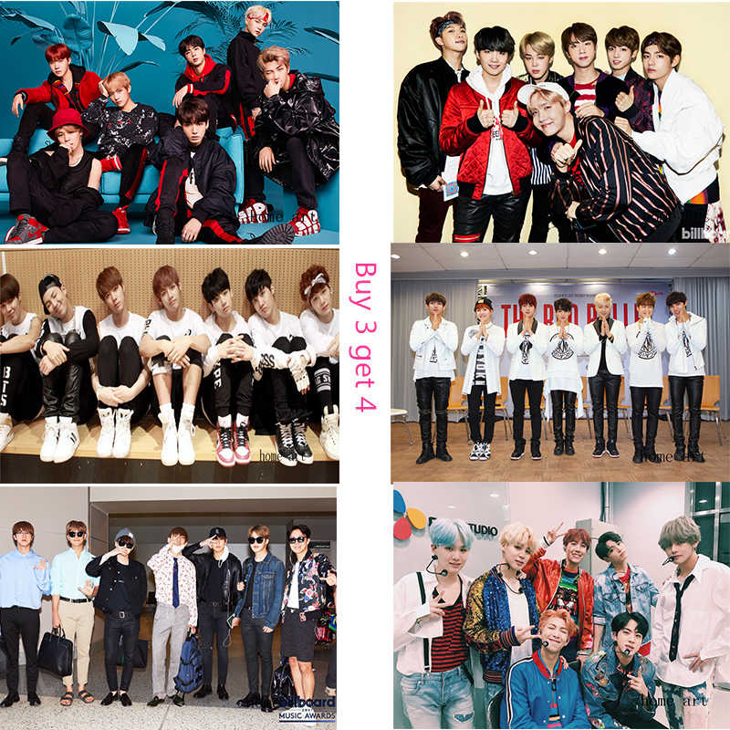 BTS Korean band  Posters Wall Stickers  Decoration Good Quality Prints White Coated Paper B3