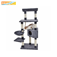 H139cm Cat Toys Fun Cat Climbing Tree Multi layer With Hammock Cat House Furniture Scratching Solid Wood Post High Qualtiy