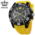 Big Watches for Men Alloy Dial Silicone Strap Casual Sport Watch Wuartz LED Digital Men's Wrist watch relogios masculino WS1035