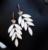 Leaf tassel earrings fashion jewelry