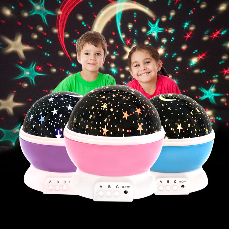 Proyector de Luz led estrellas USB juguete luminoso para niños y adultos
