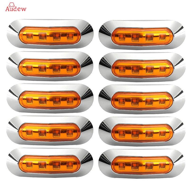 Грузовик 10шт 10-30В LED боковые габаритные огни габаритный фонарь сигнальная лампа 10В-30В внешние огни для автомобиля прицеп караван свет