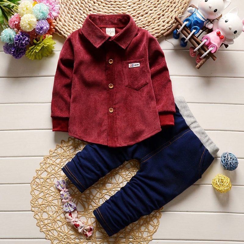 2018 New Toddler Kids Boys Clothing Sets  Tops+Pants 2pcs Infant Baby Boy Clothes Set Fashion Cartoon Baby Casual Suits Kids
