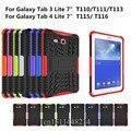 Мода Противоударный Heavy Duty Резина Hard Case Cover Для Samsung Galaxy Tab E 7.0 SM-T115 SM-T116 Падение Доказательство Таблетки Жесткий Shell
