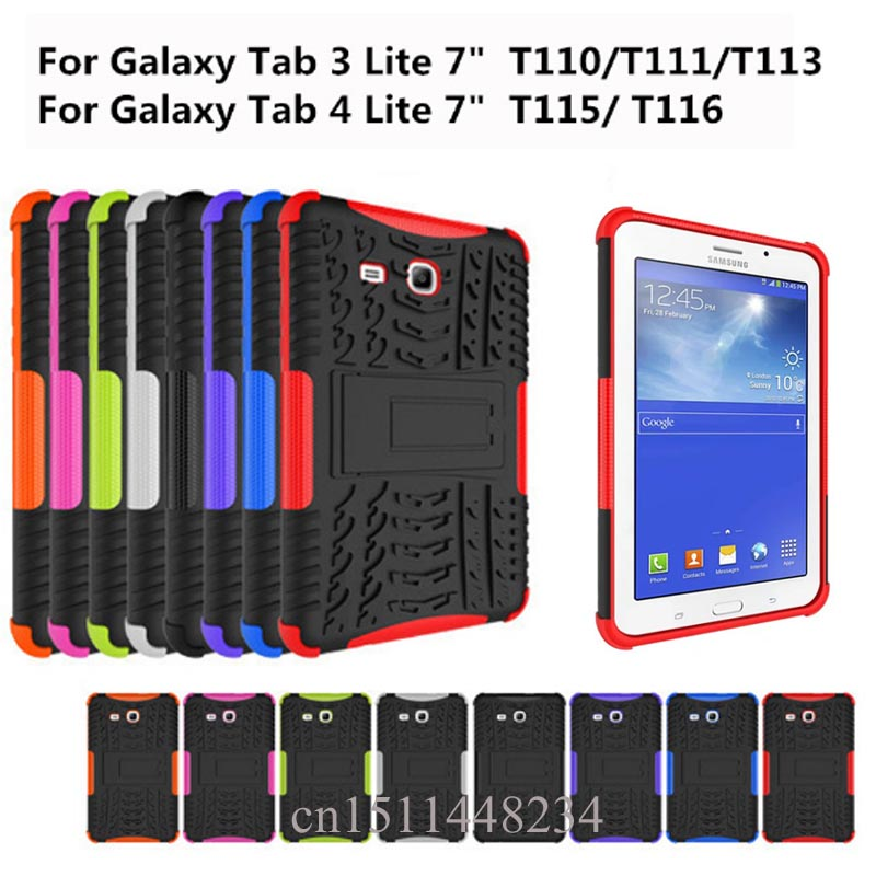 fashion Shockproof Heavy Duty Rubber Hard Case Cover For Samsung Galaxy Tab E 7.0 SM-T115 SM-T116 Drop Proof Tablet Hard Shell lovemei shockproof gorilla glass metal case for galaxy note4 n9100