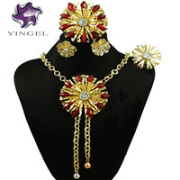Gold Jewelry Sets With Stone Party Jewelry Set Women Necklace Dubai Jewelry Sets Indian Design Jewelry