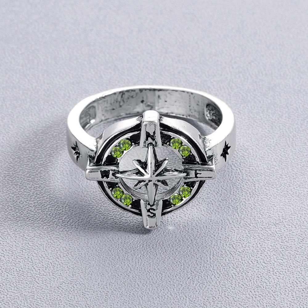 Chandler Panas Jimat Cincin Vintage Viking Perhiasan Laki-laki Perak Antik Biker Cincin Fashion Perhiasan Hitam Punk Keren Anel