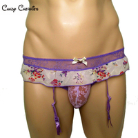Candy Cherries Sissy Panties Cake Lace Gay Men Underwear Knickers Cuecas Tanga Hombre Men Briefs Ladygirl