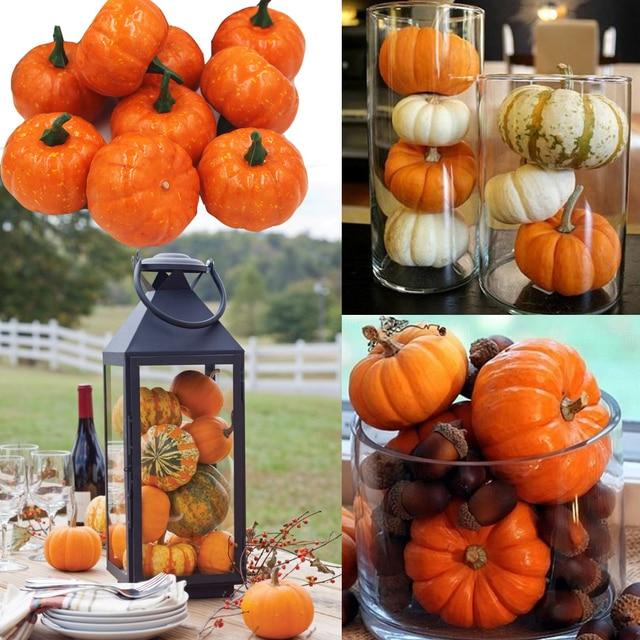 Aliexpress Buy 16pcspack Mini Foam Pumpkin For Thanksgiving