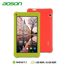 7 inch Kids Tablet 16GB/1GB Android 7.0 Aoson M753 Kids Gift Learning Tablet PC with Silicone Case Software Parental Control
