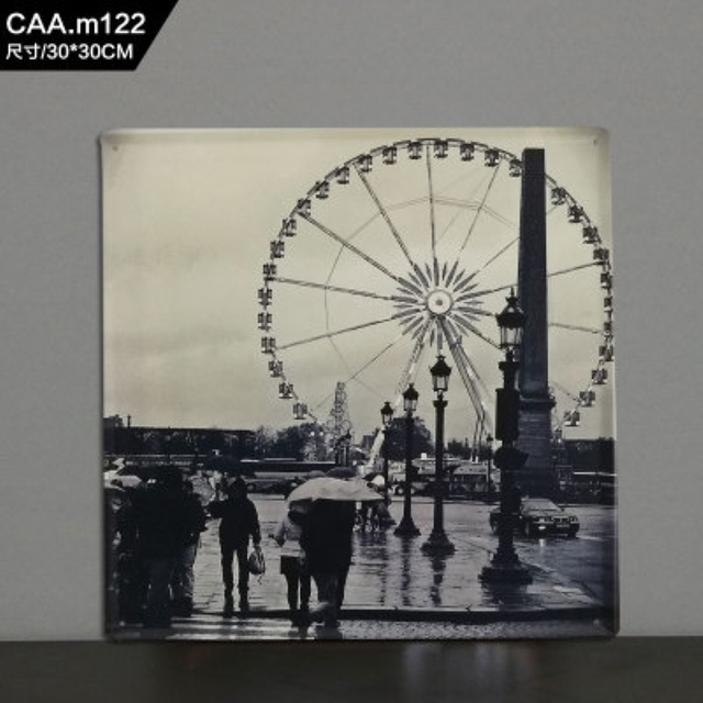 Ferris wheel Large Vintage Metal Painting Tin Signs Bar KTV Decor ...