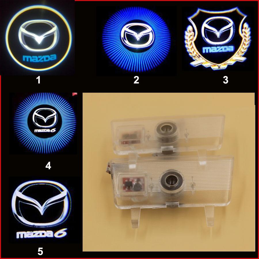 promotion mazda Atenza logo car logo door light LED Welcome Light 3d ghost shadow light laser lamp ибп eaton 5130 1250va rt 2u