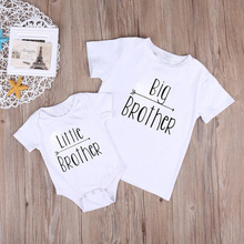 Big Brother & Little Brother Letter Printed Matching Kids  T-shirt