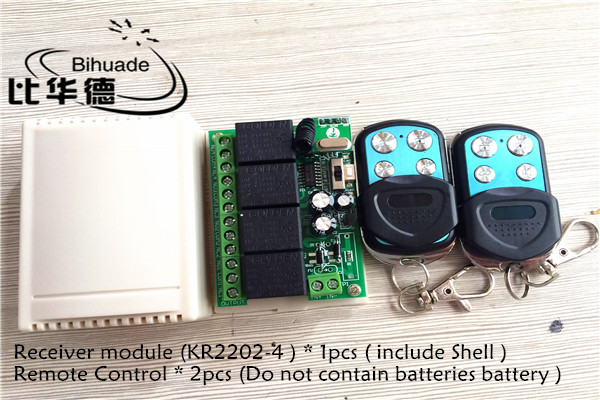 433Mhz Universal Wireless Remote Control Switch DC 12V 4CH relay Receiver Module and 2pcs RF Transmitter 433 Mhz Remote Controls dc 12v 1ch 433 mhz universal wireless remote control switch rf relay receiver module and transmitter electronic lock control diy