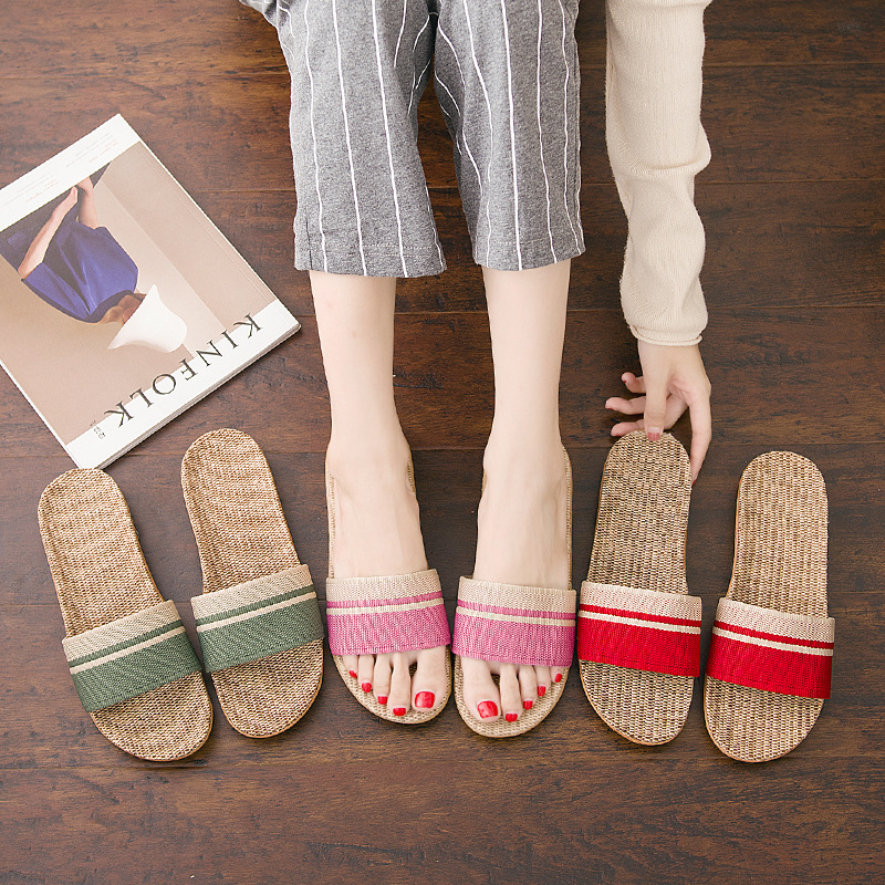 4061P Couples flax shoes female season indoor home use bathroom anti-skid soft bottom male office4061P Couples flax shoes female season indoor home use bathroom anti-skid soft bottom male office