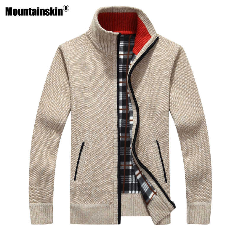 Mountainskin New Men's Sweaters Autumn Winter Warm Pullover Thick Cardigan Coats Mens Brand Clothing Male Casual Knitwear SA582