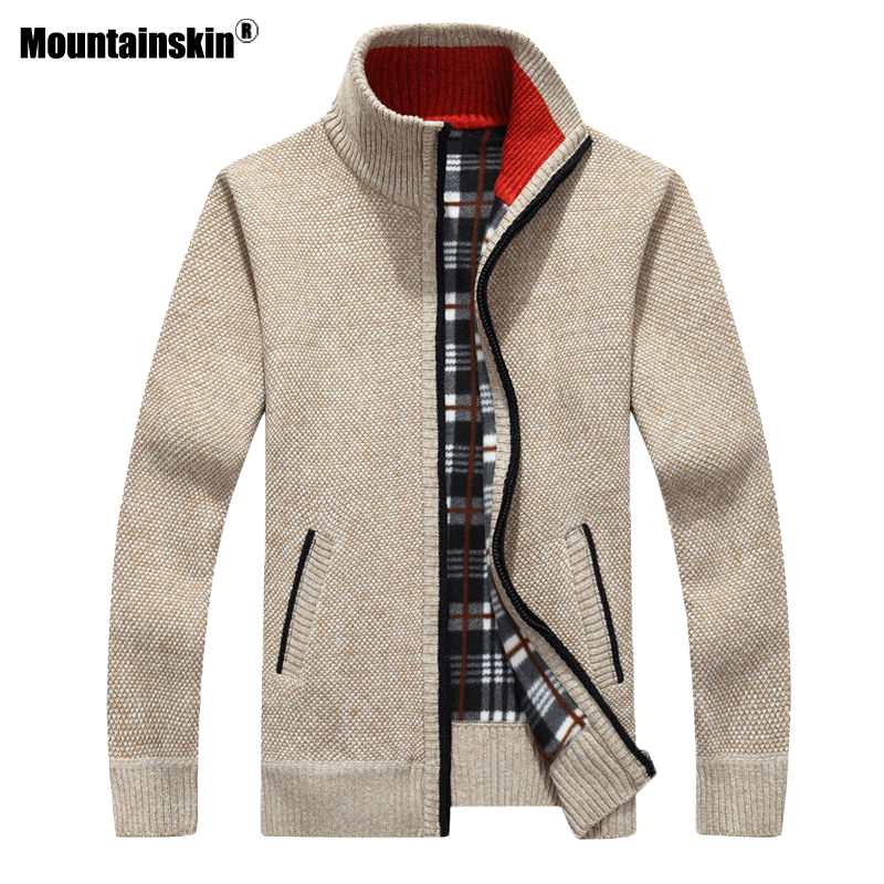 Mountainskin Men's Sweaters New Autumn Winter Warm Pullover Thick Cardigan Coats Mens Brand Clothing Male Casual Knitwear SA842