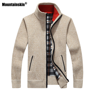 Mountainskin Men's Sweaters New Autumn Winter Warm Pullover Thick Cardigan Coats Mens Brand Clothing Male Casual Knitwear SA842(China)