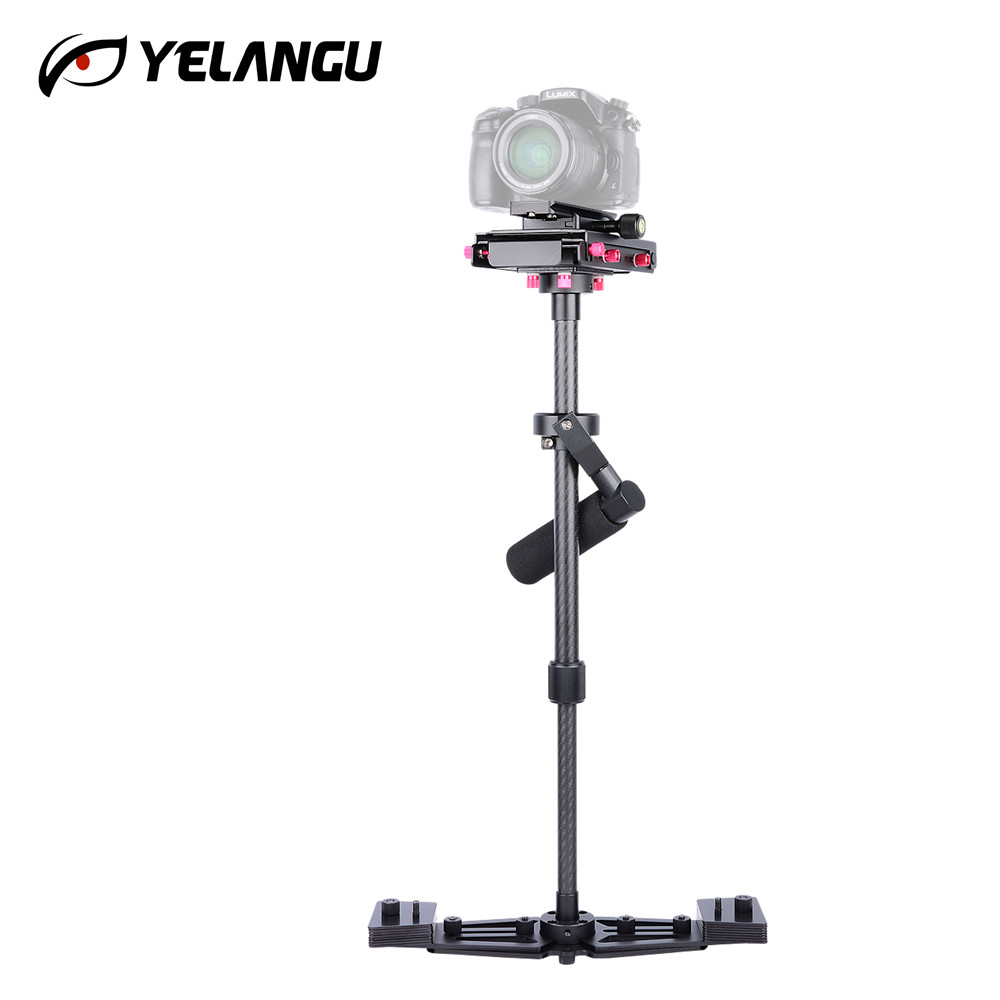 Professional 68cm Carbon Fiber Handheld Stabilizer Video Steadycam Camcorder Steady Cam with Anti-slip Panel for DSLR SLR Camera ashanks hd2000 handheld stabilizer for camcorders slr dslr 7d 600d 700d d5200 d3200 video camera