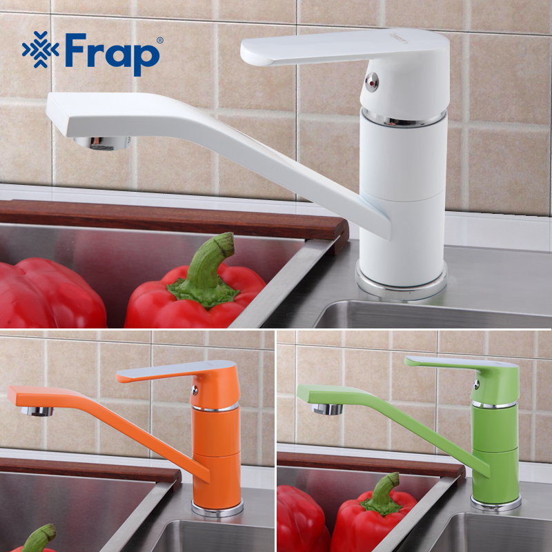 FRAP Modern Kitchen Sink Faucet Mixer Cold and Hot Kitchen Tap Single Hole Water Tap torneira