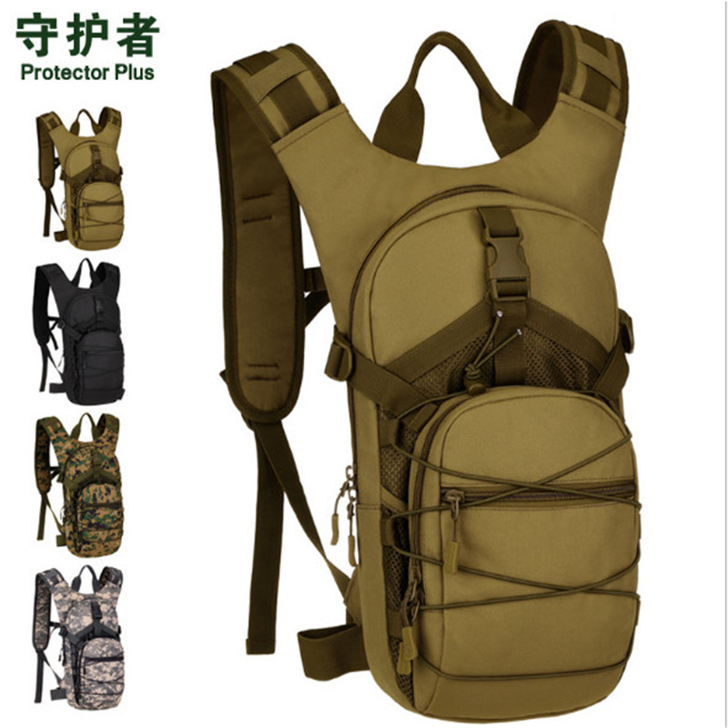 цена на Protector Plus S453 Outdoor Sport Bag 15L Camouflage Nylon Tactical Military Trekking Cycling Backpack for 2L/2.5L water bag