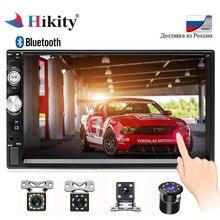 Hikity 2 Дин радио 2din авто сенсорный экран автомобильное аудио Bluetooth FM SD мультимедиа MP5 плеер Поддержка Камера 7010b стерео