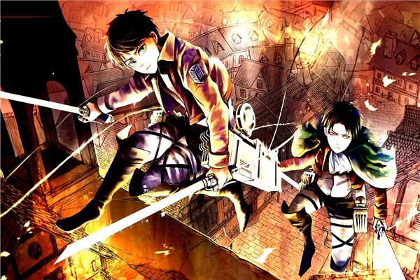 Free Ship Fashion Levi Warrior Eren Anime Wallpapers Custom Attack