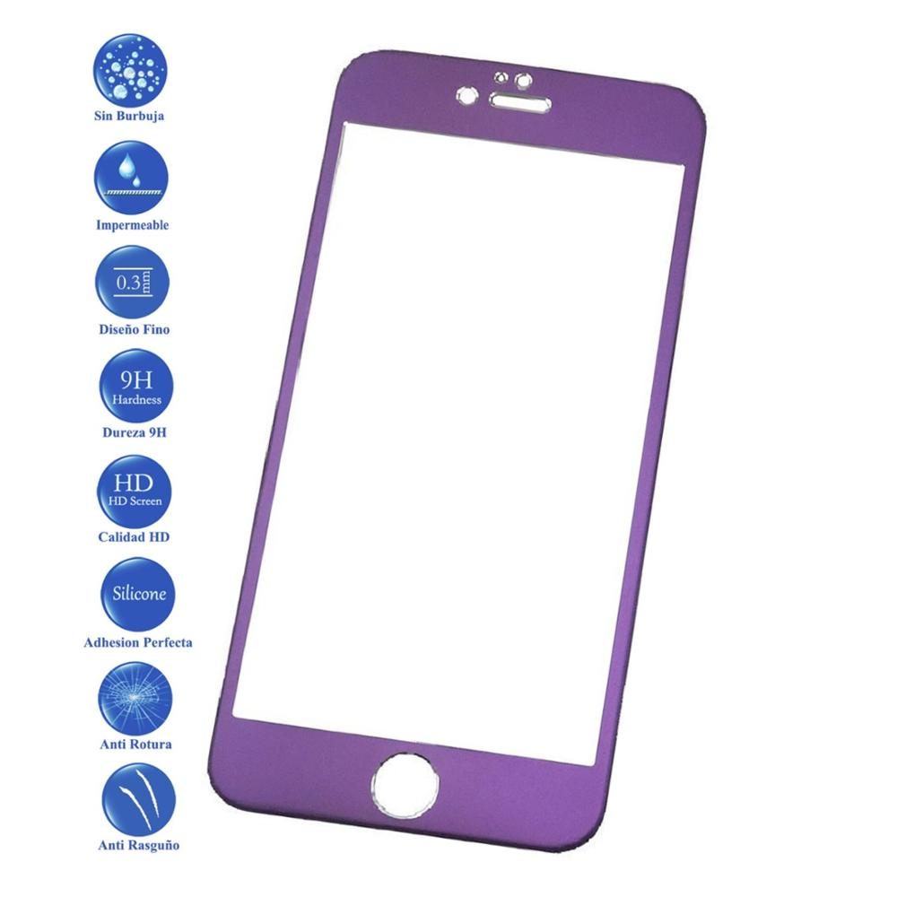TEMPERED GLASS SCREEN PROTECTOR for apple iphone 6 s 4.7 mulberry colour