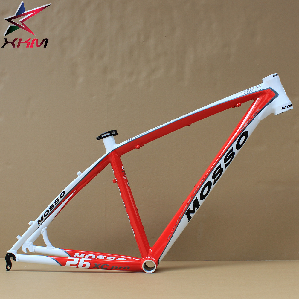 MOSSO MTB Bike Frame for 26er Aluminum Alloy Mountain Bicycle Frame 17 with Tail Hook White Red hot bike frame mtb authentic mosso 2608 aluminium alloy mountain bike 26 16 17 18 inch frame