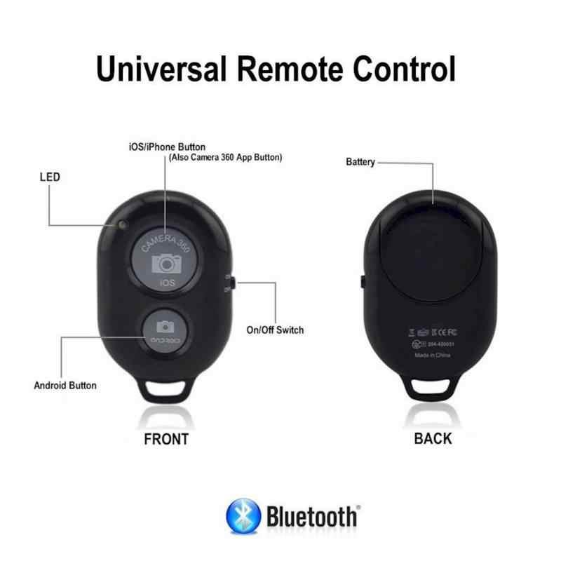Bluetooth 3.0 Remote Control untuk Ponsel Kamera Nirkabel Pemegang Tripod Selfie Tongkat untuk IOS dan Android Ponsel