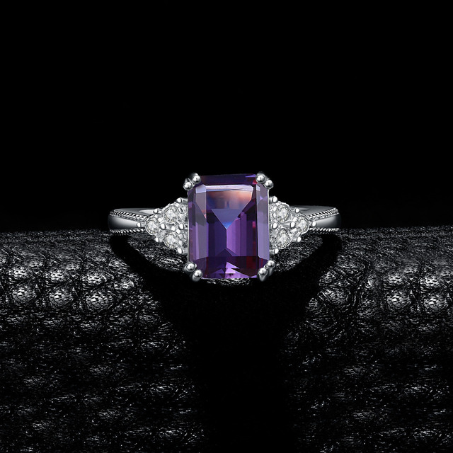Radiant Alexandrite Ring