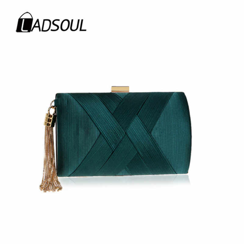 LADSOUL вечерняя жемчужная сумочка Банкетный Шелковый клатч модная женская Сумочка эксклюзивная Высококачественная CD5550/h