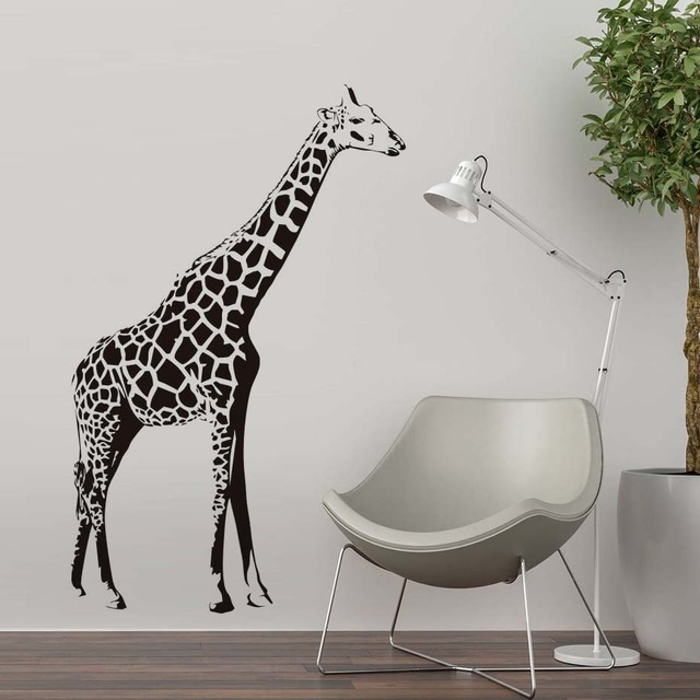 Big Size Giraffe Wall Sticker Vinyl Animal Wall Decal Nursery Art Mural Self Adhesive Wallpaper For & Big Size Giraffe Wall Sticker Vinyl Animal Wall Decal Nursery Art ...