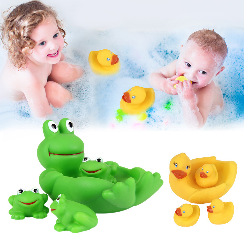 2018 New 4pcs Floating Bath Play Set Kids Fun Water Bathtub Toys Non Toxic Playing Kit T ...