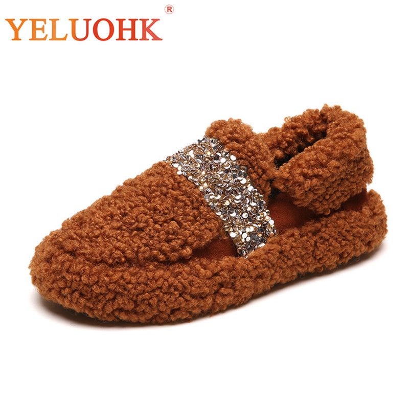 Winter Home Shoes For Women Slippers Plush Warm 2018 Winter Slippers Women Indoor Shoes Animal New Winter Shoes Women women winter slippers shoes unisex indoor slippers home shoes for women corduroy short plush massage warm winter shoes
