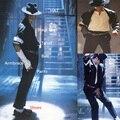 MJ En Memoria de Michael Jackson Classic Negro y Blanco COMPLETO SET Punk Armbrace EE. UU. Estrella de la Música Regalo de Halloween Muestran Camisa Fresca
