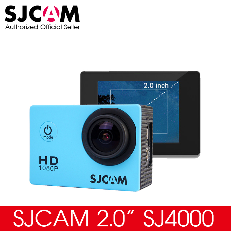 Prix pour D'origine 2.0 Pouce LCD SJ4000 SJCAM Action Caméra Étanche Caméra 1080 P Full HD Helmet Caméra Sous-Marine Sport DV