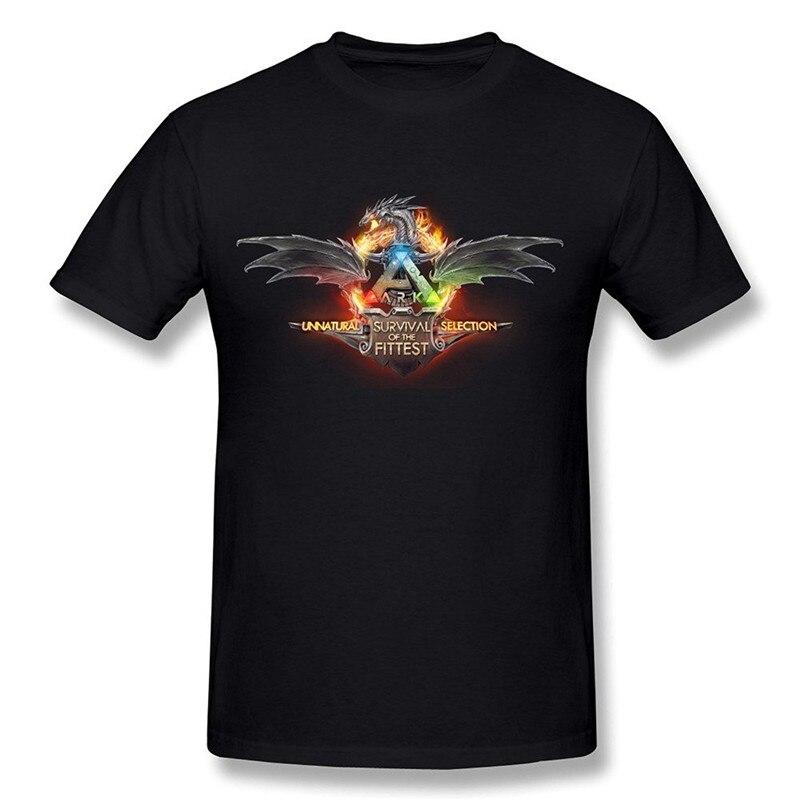 Custom T Shirts Online O Neck Short Sleeve Ark Survival Evolved Arpg Game Fashion T Shirts For Men
