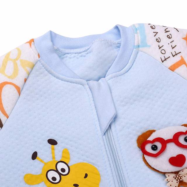 Baby Sleeping Bag Autumn Winter Newborn Long-sleeve Cute Cartoon Sleeping  Bag Infant Romper Blanket 4220049a5