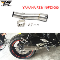 ZS Racing Motorcycle FZ1 FZ1N FZ1000 Exhaust Muffler Middle Pipe Escape Silencer Motorbike Mid Link Pipe For Yamaha FZ1 Slip on